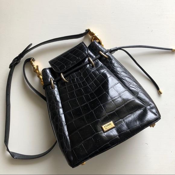 bbc4053bb873 Gianfranco Ferre Handbags - Italian vintage Gianfranco Ferre alligator purse